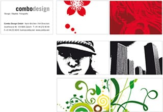 Combo Design Zürich Business Cards 2005